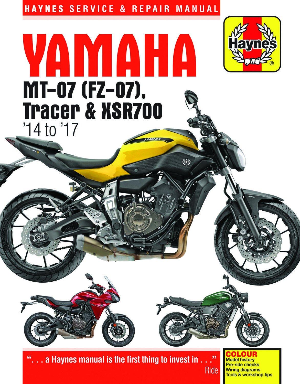 hight resolution of get quotations 2014 2017 yamaha mt07 fz07 mt fz 07 tracer xsr700 xsr 700 haynes repair manual