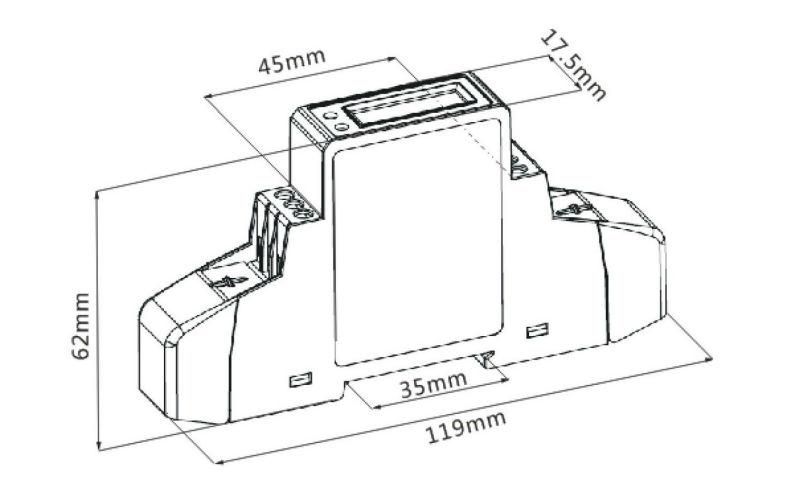 SDM120-Modbus ,5(45)A 230V 50HZ/60HZ, single phase two
