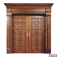 Latest Villa Main Door Solid Wood Security Villa Double