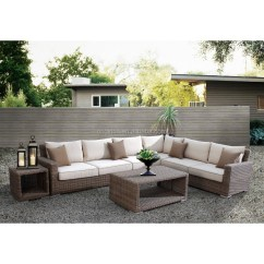 All Weather Wicker Sofa Lamps Table Newly Arrival Luxury Comfortable Cube Garden Furniture ...