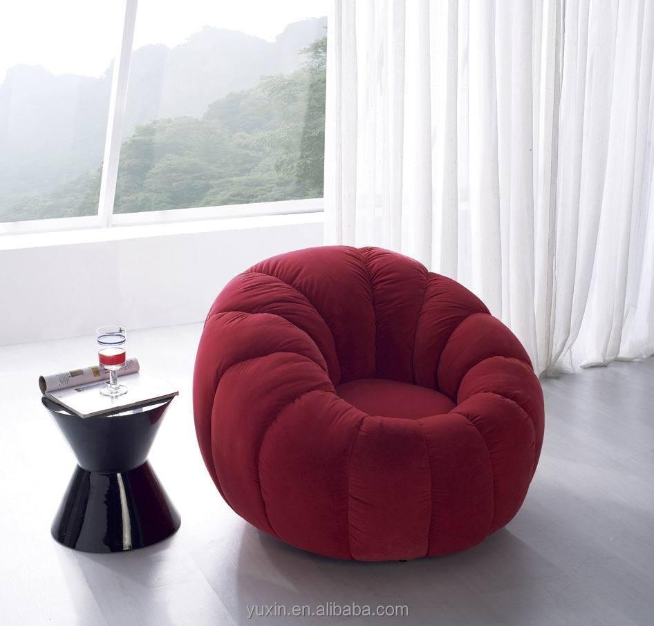 Luxury Velvet Single Wooden Sofa Chair/round Mini Sofa