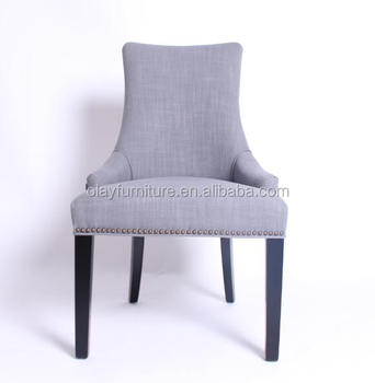 high back dining chair rent kids chairs restaurant wooden upholstered french