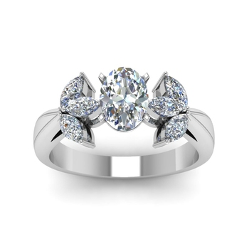 oval shaped floral marquise