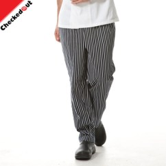 Kitchen Pants Tile For Oem Custom Logo Chef Polyester Cotton Comfortable Striped Printing The Restaurant