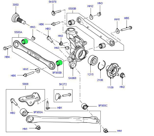 Land-rover Freelander 2 Lr2 Rear Suspension Arm Rear