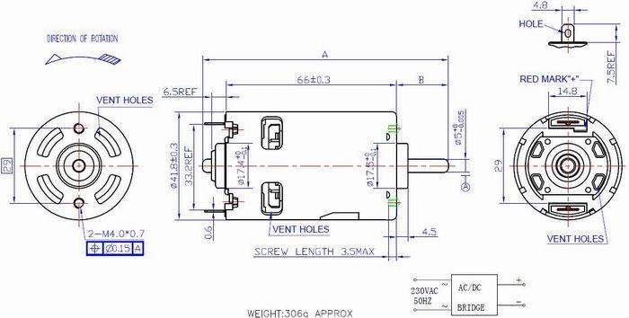230V Permanent Magnet Motor,DC Motor for Mixer,Juicer and