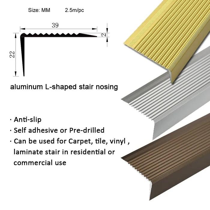 high quality vinyl floor ceramic tile metal bronze stair nosing buy bronze metal stair nosing metal stair nosing bronze stair nosings product on