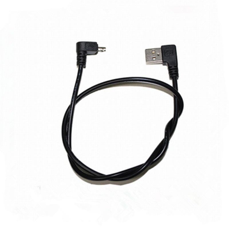 Right Angle L-shaped Short Usb Type A To Micro Usb B 5pin