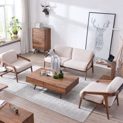 Scandinavian Living Room Furniture Design For Small Apartment 2016 Fabric Single Seater Wood Sofa Chairs