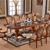 Extended Wooden Dinning Table Long Hand Carving Dining ...