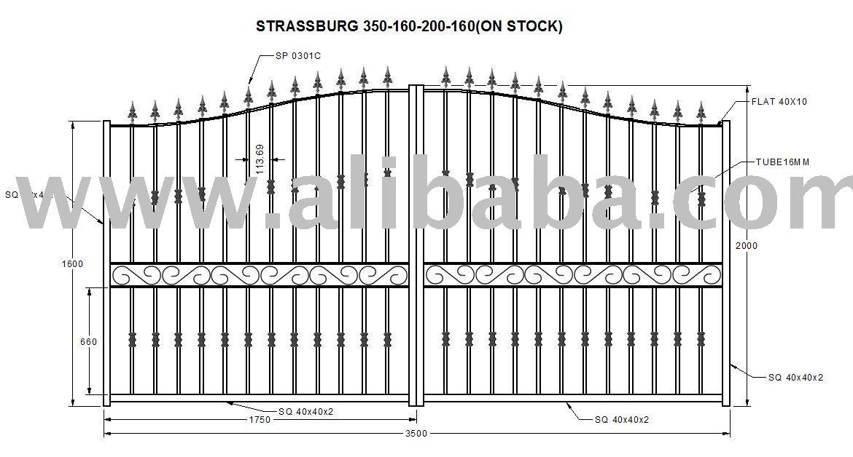 Portões de ferro forjado e cercas-Portões-ID do produto
