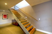 Double Beam Wooden Stairs With Solid Wood Staircases ...