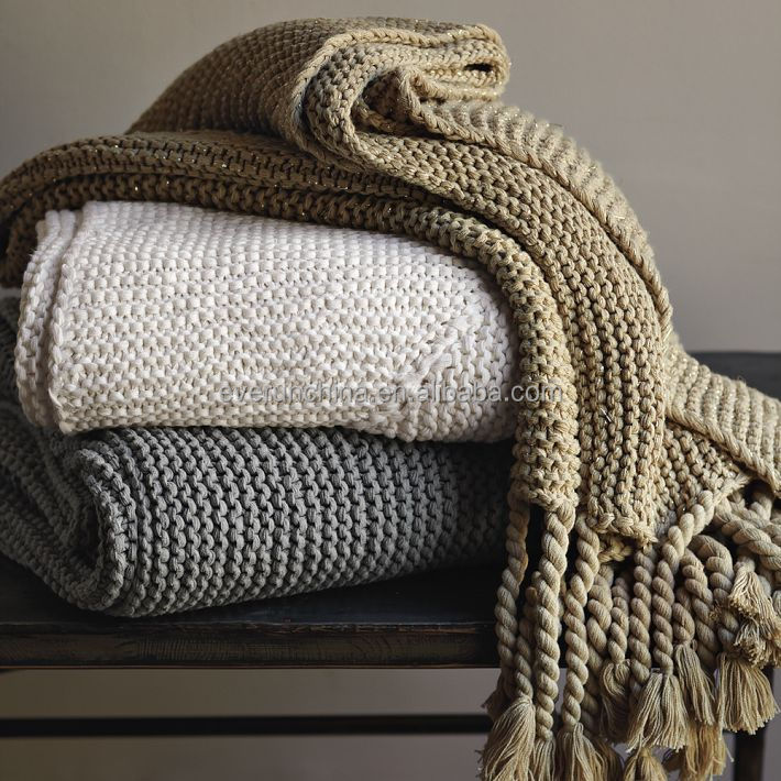 gold throws for sofas sheets sofa bed mattress 100%cotton knit blanket white plaid throw sofas,cotton ...