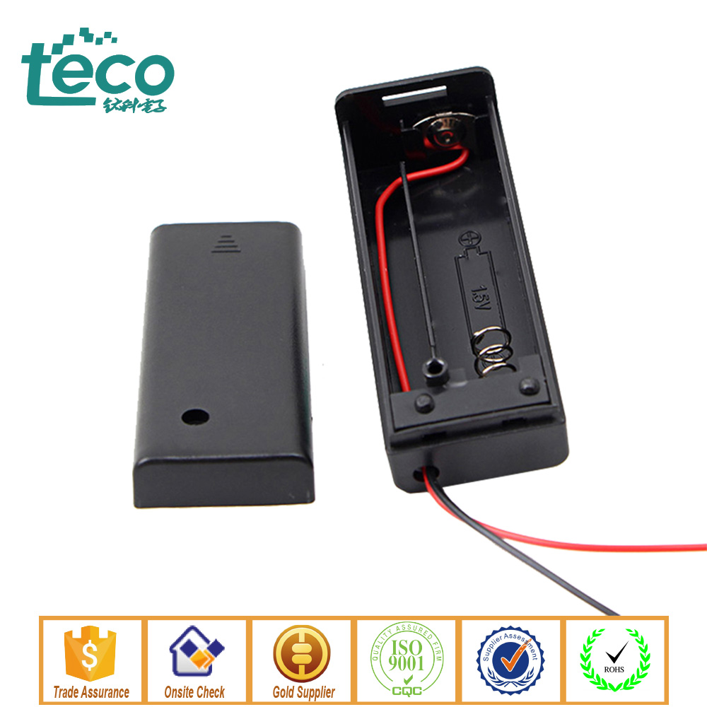 hight resolution of tbh 2a 1b ningbo teco 1 5v 1 x aa batteries battery holder case container w on off switch