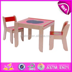 Kids Wooden Table And Chair Set Ski Plans Study For Dinner Toy Children Baby W08g091