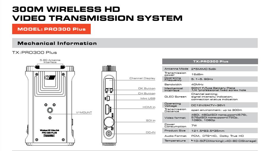 Cvw Pro300 Plus Zero Latency Long Range 5g Wireless