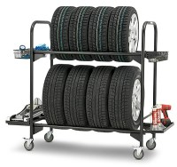 Kinlife Rolling Commercial Tire Storage Rack