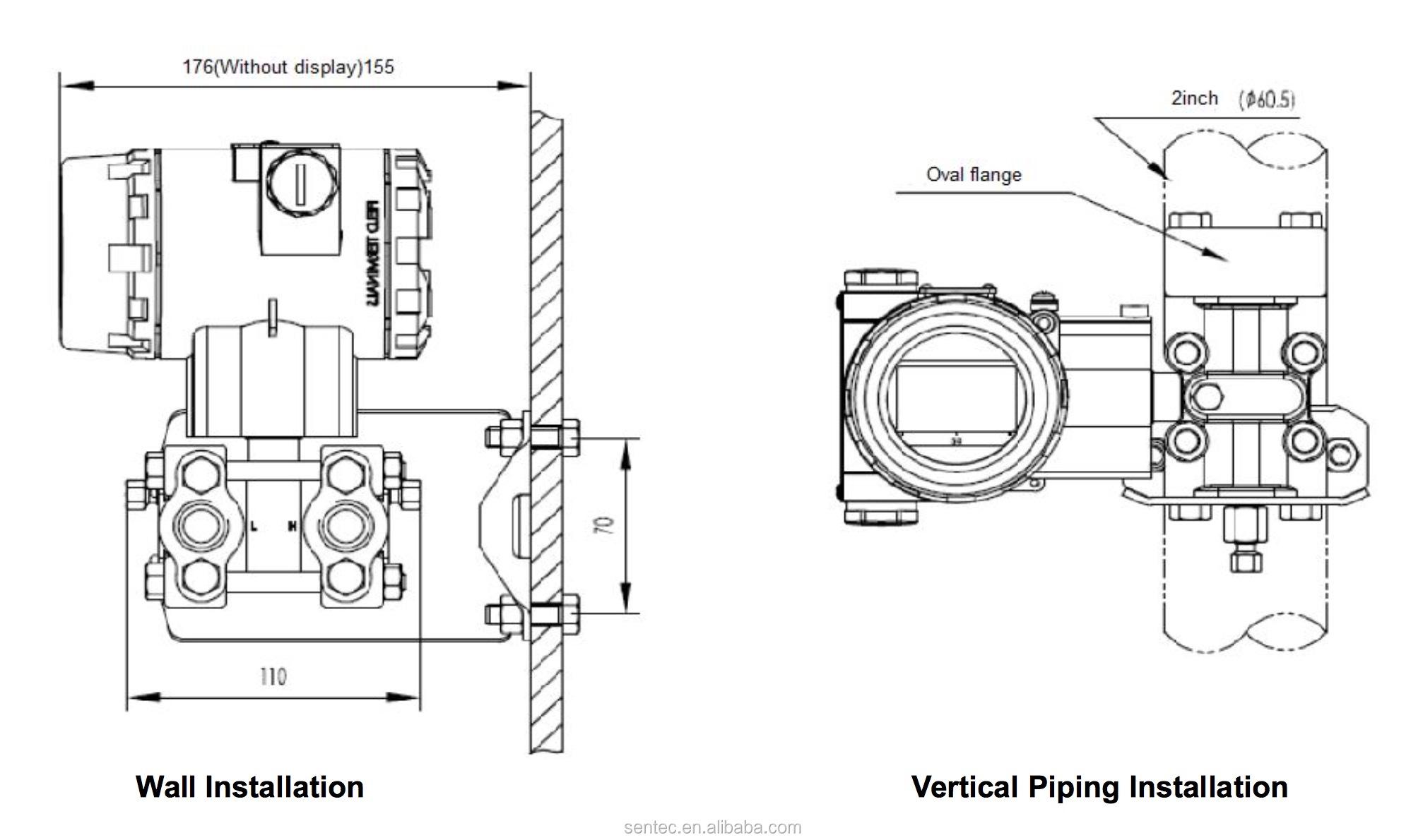 Industrial 3151 Capacitive Differential Digital Pressure