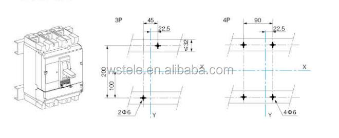 NSX MCCB circuit breakers 100/160/250/400/630A, View NSX