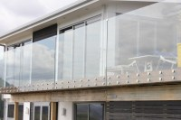 Exterior Frameless Tempered Glass Balcony Railing Glass ...