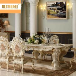 10 Chair Dining Table Set Best Office For The Money Bisini Luxury Italian Baroque Style Palace Hand Carved Long With Chairs