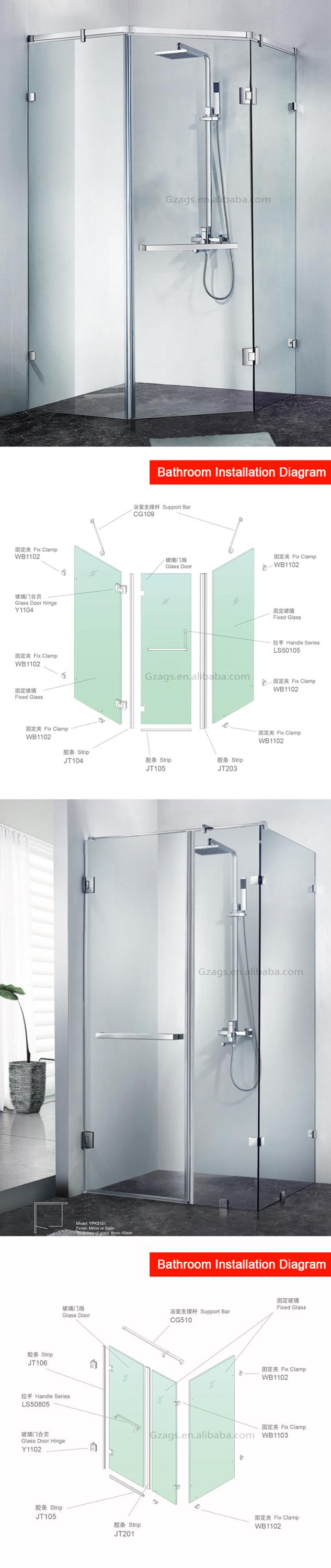 Concise Design Shower Door Frameless Frosted Glass Bathroom Door Buy Frosted Glass Pocket Doors Frosted Glass Bathroom Door Frameless Glass Door
