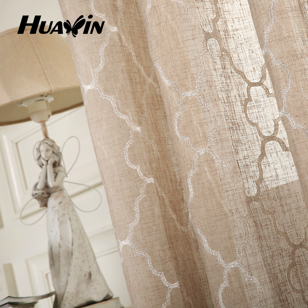 Linen Fabric For Curtains Embroidery Linen Curtain Ready Made