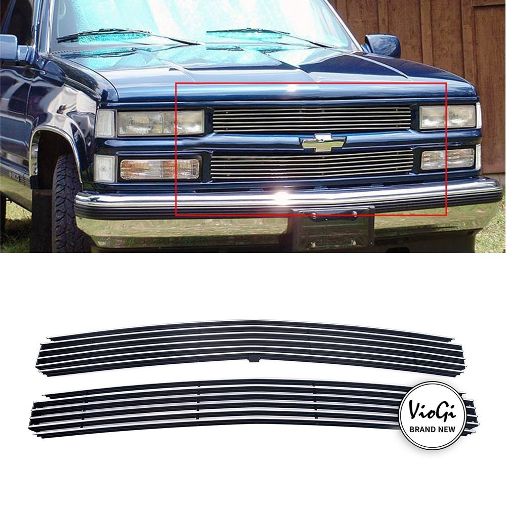hight resolution of get quotations violetlisa new 2pcs replacement main upper aluminum polished billet grille w hardware instruction for