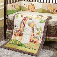 Blanket In Crib. Cute Giraffe Design Baby Crib Bedding 6 ...