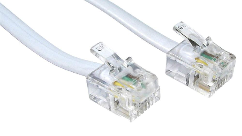 medium resolution of get quotations rhinocables rj11 adsl cable premium quality lead high speed male bt internet broadband modem router telephone