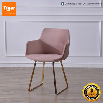 velvet armchair pink fishing chair rod gimbal new luxury furniture dining buy product on alibaba com