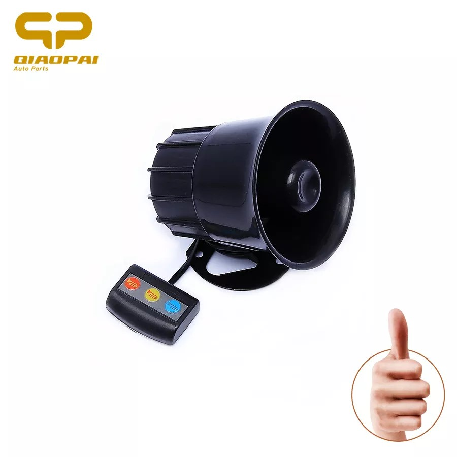 hight resolution of motorcycle car alarm siren 3 tone horn 12v universal loud speaker auto alarm police firemen ambulance