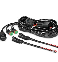 get quotations nilight 16awg dt connector wiring harness kit led light bar 12v on off switch power relay [ 1000 x 1000 Pixel ]