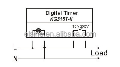 220v 25a Programmable Electronic Timer Switch Kg316t-ii