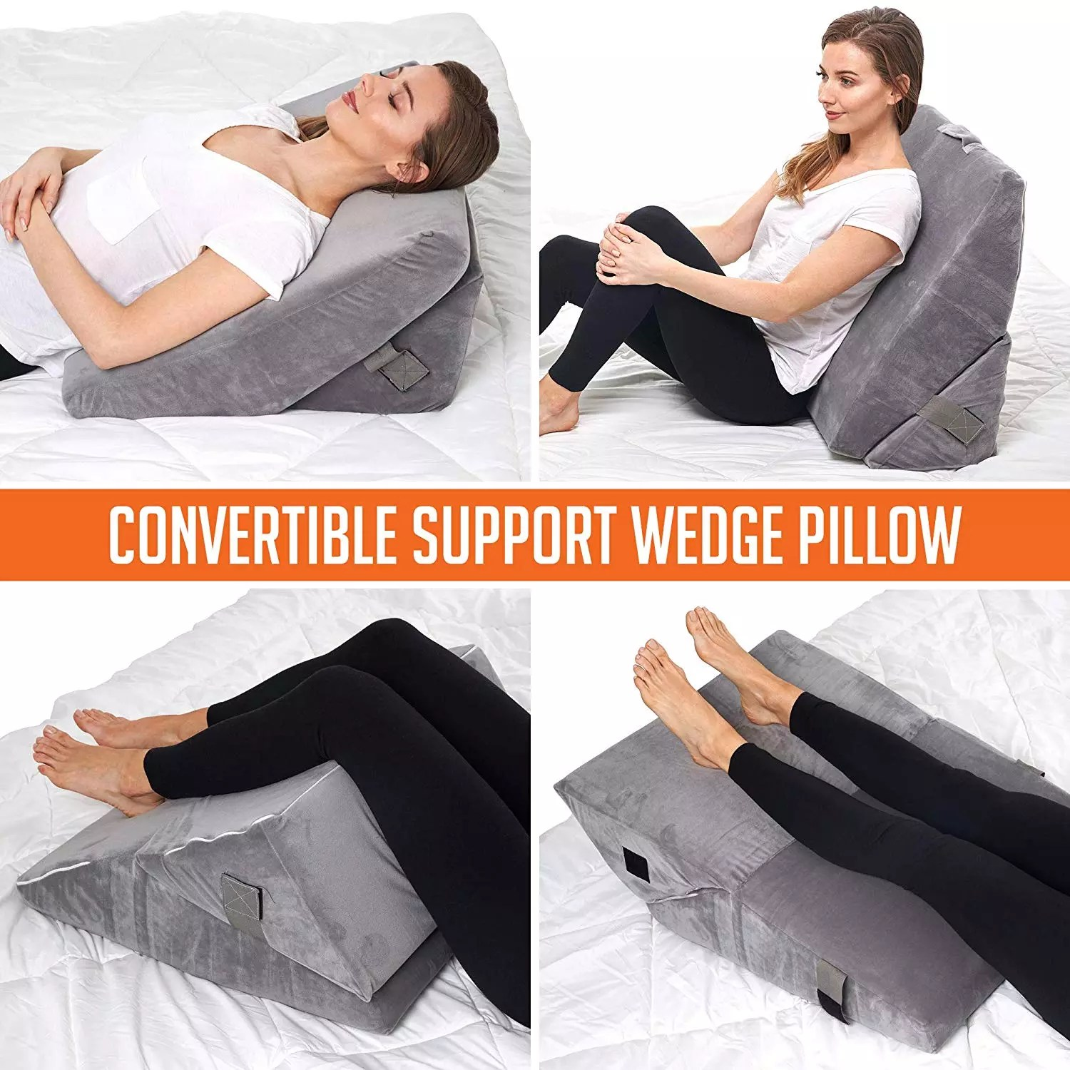 4 in 1 design comfort bed wedge pillow for anti snoring heartburn lower and upper back pain buy triangle bed wedge pillow anti snoring bed wedge pillow back support wedge pillow for sleeping