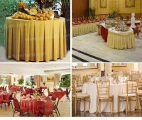 Elegant Style Ruffled Design Wedding Table Skirting For ...