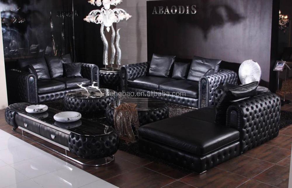 High End Leather Living Room FurnitureGenuine Leather Sofa SetChesterfield Sofa Buy
