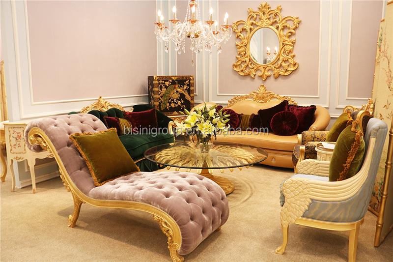 gold leather sofa set 3 piece sets luxury italian high end royal grey set, new ...