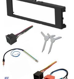 get quotations asc car stereo install dash kit wire harness antenna adapter and radio removal [ 1200 x 1612 Pixel ]