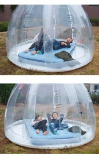Lawn Clear Transparent Igloo Dome Type Greenhouse ...