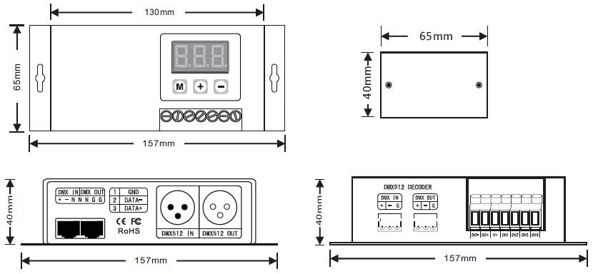 4CH CC/CV DMX512 Decoder DC12-48V 4CH 4 Channel RGBW 700mA