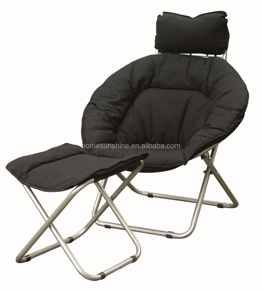 foldable cushion chair covers for sale adelaide metal sling folding with seat and foot step buy chairs padded seats cheap