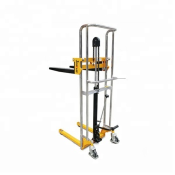 400kg Hydraulic Small Manual Hand Lift Stacker Forklift