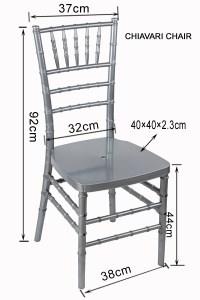 Stylish Metal Texture Silver Color Resin Chiavari Chair ...