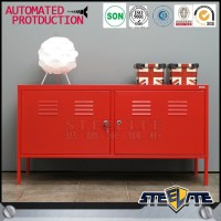 Modern Korean Furniture 2 Door Red Ps Metal Tv Cabinet ...