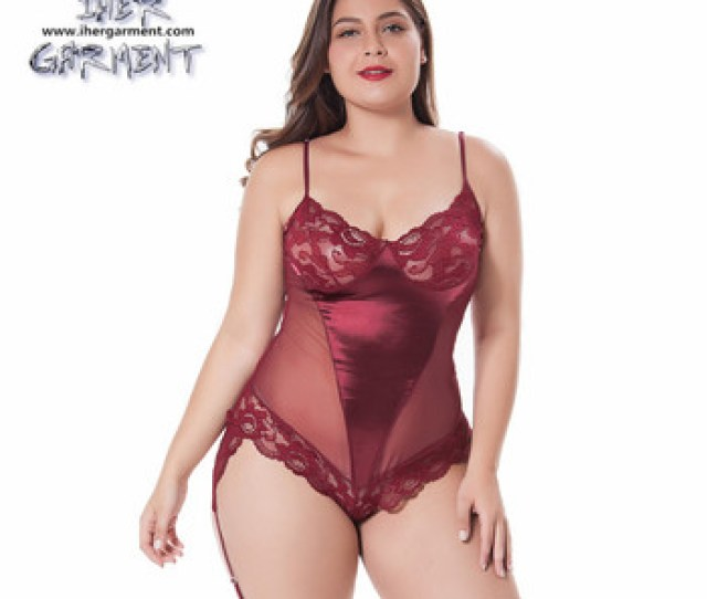 Sexy Matured Women Erotic Plus Size Lingerie Teddy With Garterbelt Hot Teddies Lingerie For Pretty Fat