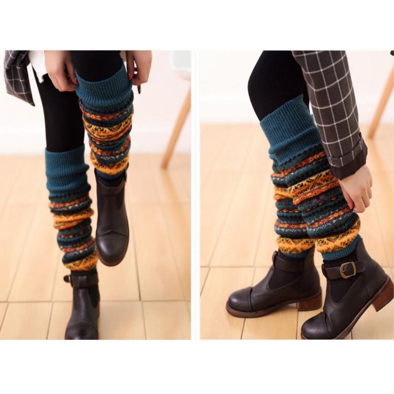 3 Pack Homme Mince Chaud Extra Long Genou Argyle Pattern Agneaux Laine Robe Chaussettes