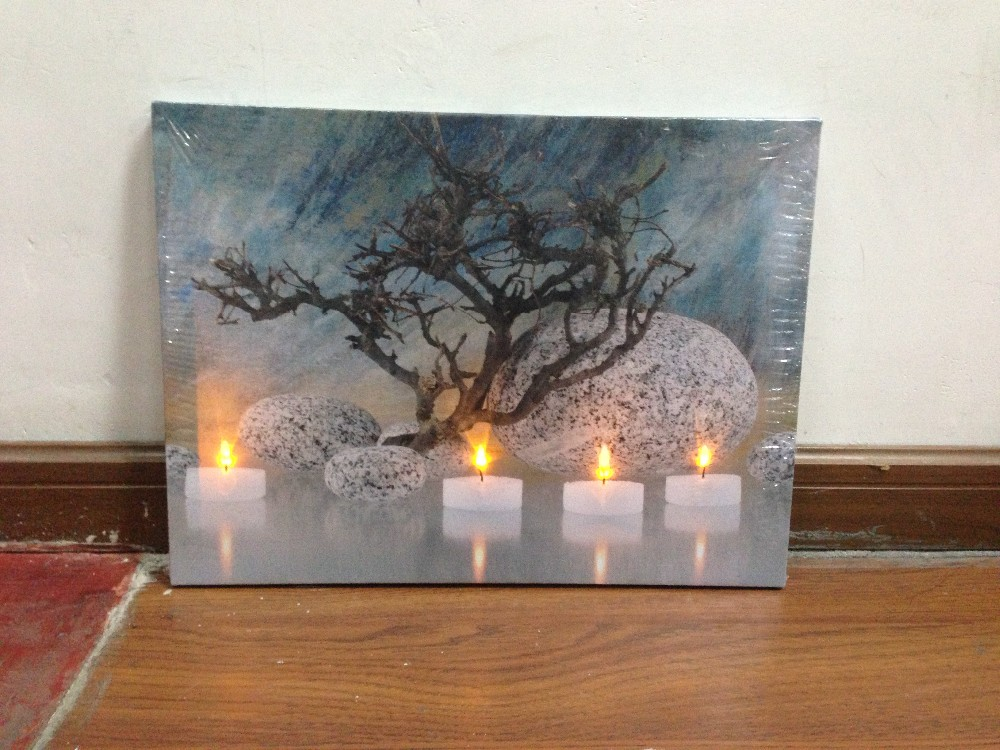 Led Light Candle Canvas