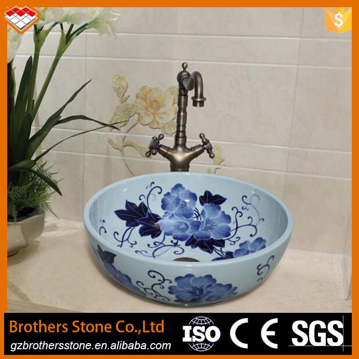 Lavabos Artesanales  China Artesanal Artstica Europa Vintage Lavabo Banheiro Lavatrio Lavatrio De Cermica Jingdezhen Arte Pia Do Banheiro Diseo
