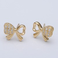 Small Earring Designs Gold Diamond Ear Studs Gold Designs